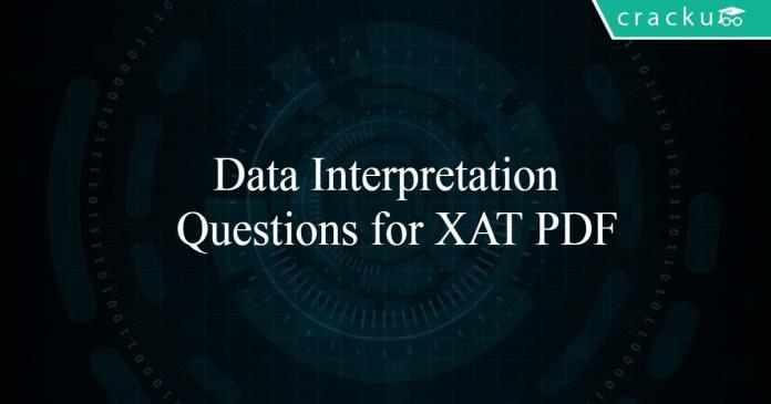 Data Interpretation Questions for XAT PDF