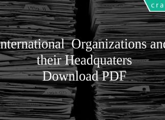 International Organizations and their Headquaters