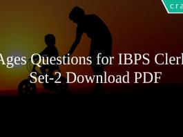 Ages Questions for IBPS Clerk Set-2 PDF