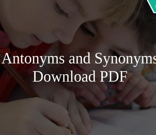 Antonyms and Synonyms