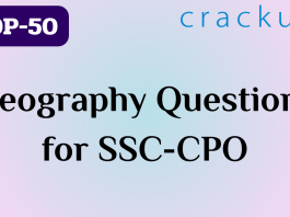 TOP-50 Geography questions || SSC-CPO