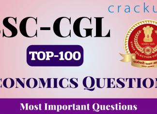 TOP-100 Economics Questions for SSC-CGL