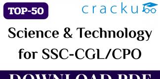 TOP-50 Science and Technology Questions for SSC CGL/CPO