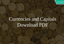 Currencies and Capitals
