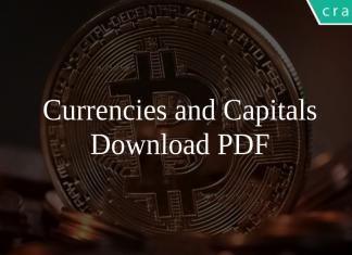 Currencies and Capitals