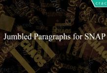 Jumbled Paragraphs for SNAP