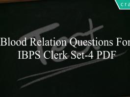 blood relation questions for ibps clerk set-4 pdf