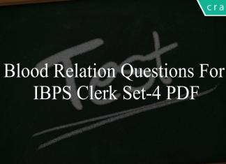blood relation questions for ibps clerk set-4 pdf