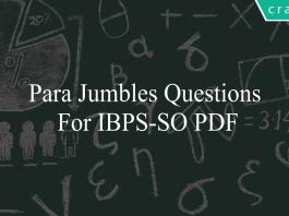 Para Jumbles questions for ibps-so pdf