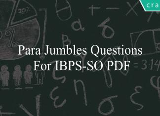 Para Jumbles questions for ibps-so pdf