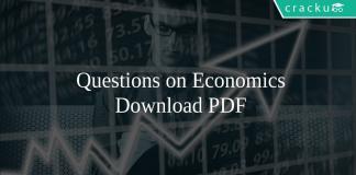 Questions on Economics