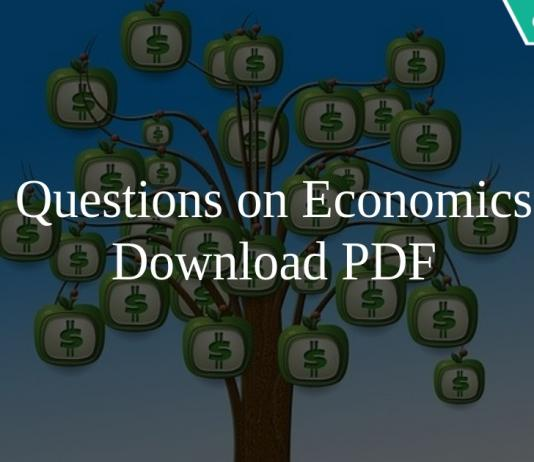 Questions on Economics