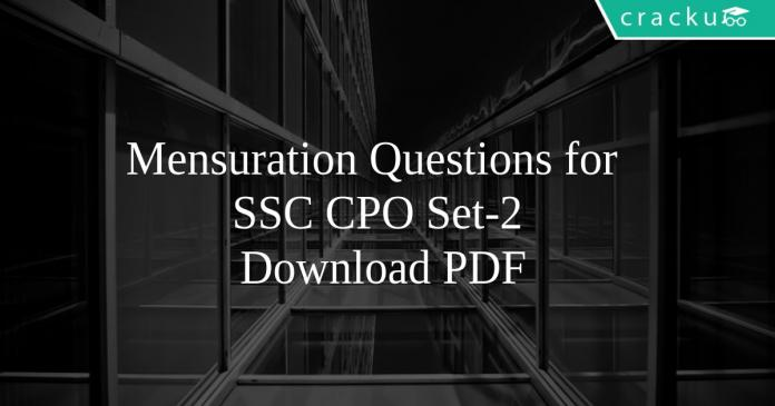 Mensuration Questions for SSC CPO Set-2 PDF