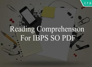 Reading Comprehension for ibps so pdf