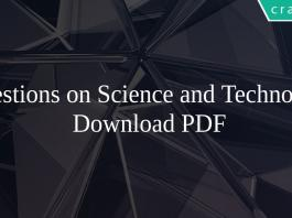 Questions on Science and Technology