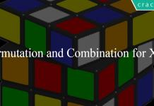 Permutation and Combination for XAT