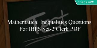 mathematical inequalities questions for ibps set-2 clerk pdf