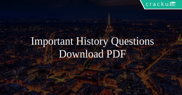Important History Questions