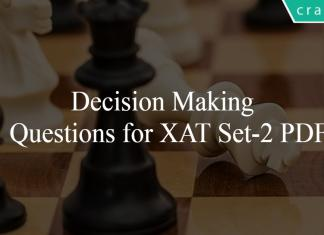 Decision Making Questions for XAT Set-2 PDF