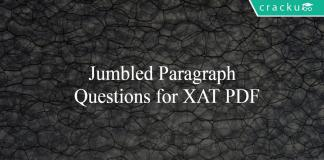 Jumbled Paragraph Questions for XAT PDF