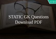 STATIC GK Questions