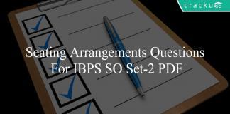 Seating Arrangements questions for ibps so set-2 pdf