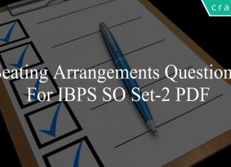 Seating Arrangements questions for ibps so set-2 pdf