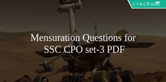 Mensuration Questions for SSC CPO set-3 PDF