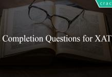 Para Completion Questions for XAT PDF