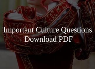 Important Culture Questions