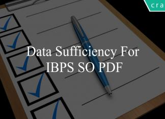 Data Sufficiency for ibps so pdf