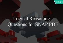 Logical Reasoning Questions for SNAP PDF