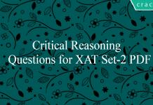 Critical Reasoning Questions for XAT Set-2 PDF