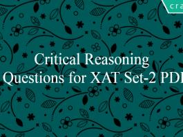 Critical Reasoning Questions for XAT Set-2 PDF