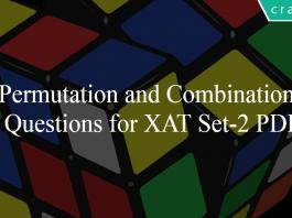 Permutation and Combination Questions for XAT Set-2 PDF
