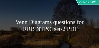 Venn Diagrams questions for RRB NTPC set-2 PDF