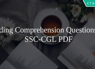 Reading Comprehension Questions for SSC-CGL PDF