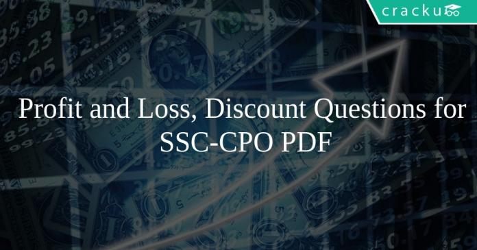 Profit and Loss, Discount questions for ssc-cpo PDF