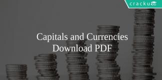 Capitals and Currencies