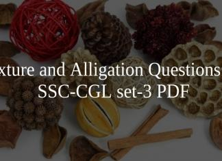Mixture and Alligation Questions for SSC_CGL set-3 PDF