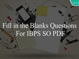 Fill in the Blanks questions for ibps so pdf
