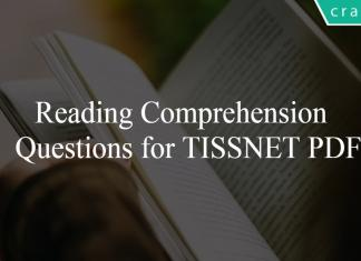 Reading Comprehension Questions for TISSNET PDF