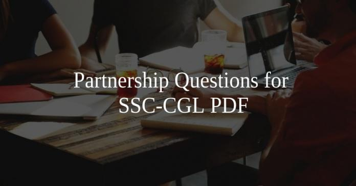 Partnership Questions for SSC-CGL PDF