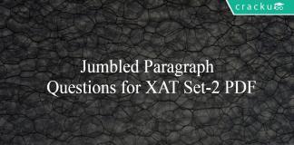 Jumbled Paragraph Questions for XAT Set-2 PDF