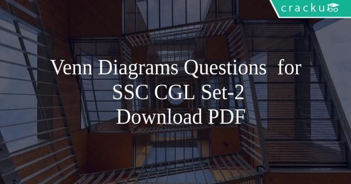 Venn Diagrams Questions for SSC CGL Set-2 PDF