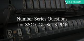 Number Series Questions for SSC CGL Set-3 PDF