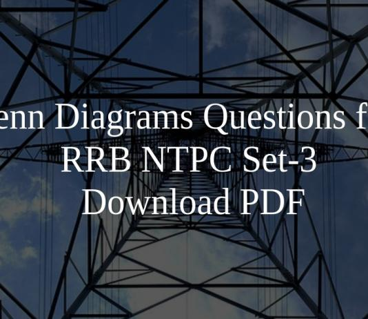 Venn Diagrams Questions for RRB NTPC Set-3 PDF