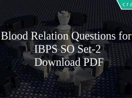 Blood Relation Questions for IBPS SO Set-2 PDF