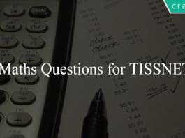 Maths Questions for TISSNET