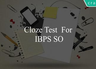 Cloze Test for ibps so